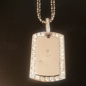 """Engraved dog tag and 18"""" chain"""